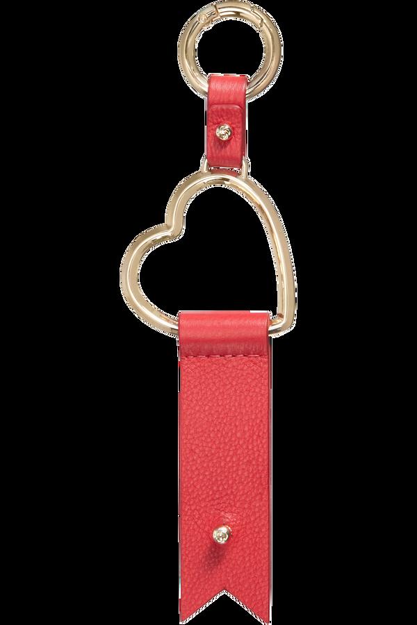 Samsonite Lady Charmy Heart Key Ring  Rød