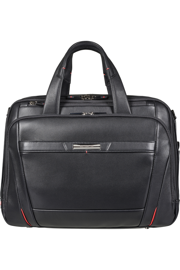 Samsonite Pro-Dlx 5 Lth Laptop Bailhandle Expandable  15.6inch Sort