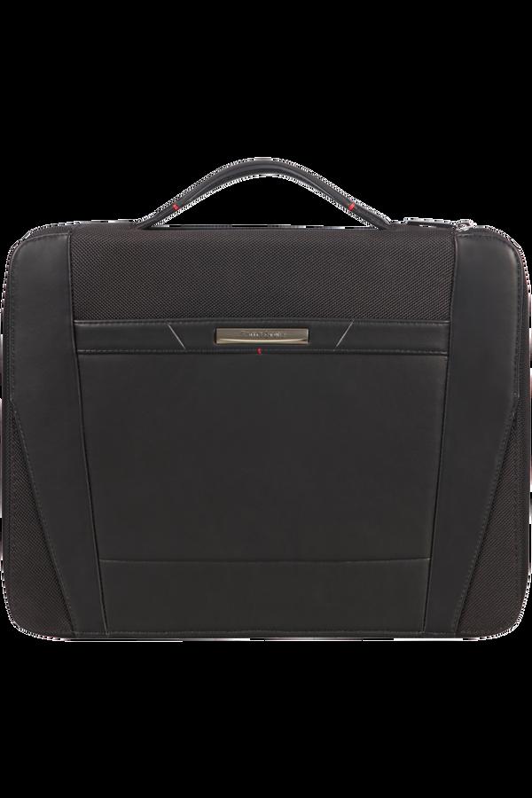 Samsonite Stationery Pro-Dlx 5 Zip Folder A4 Top H+Det B  Sort
