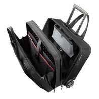 Polstrede laptop og tablet rum, med elastisk Velcro fikserings-strop.