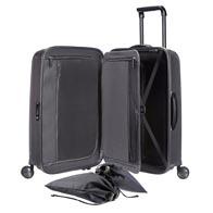 Indretning, der gør pakningen let, med blandt andet smart pakkeramme samt praktiske lommer og poser.
